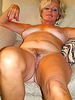 Russian granny having shaved pussy