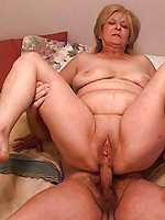Milf spreading her pussy