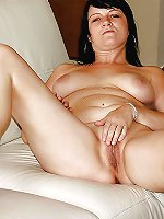 Amazing mature businesswoman getting nude