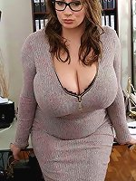 Incredible mature housewife having giant titties