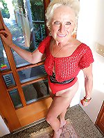 Tempting older grannies get nude for you