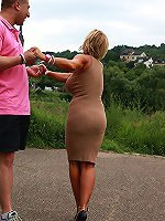 Slender Lady Barbara want to give this guy a treat
